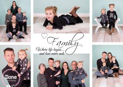 Familie Collage Familie van Klink